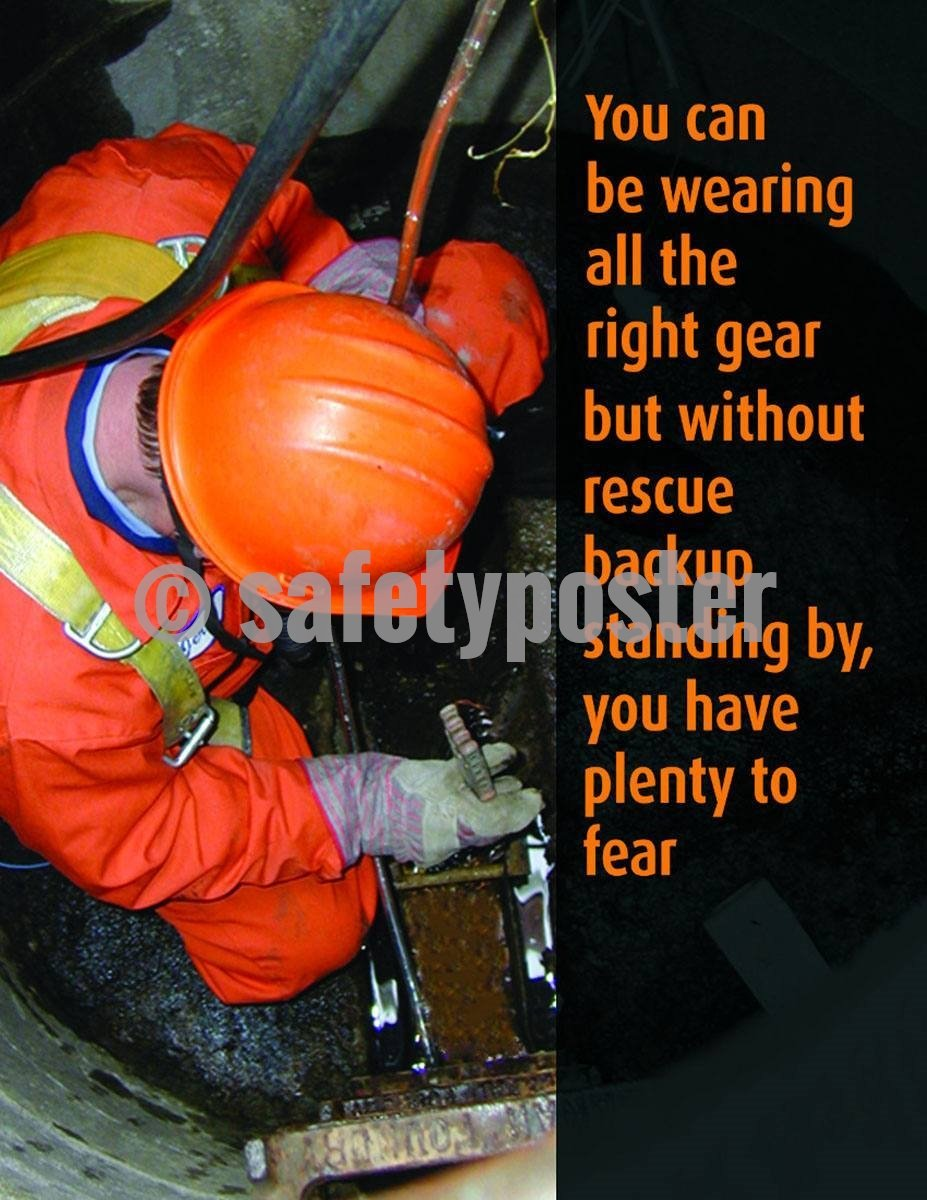 Safety Poster - Confined Space Rescue - safetyposter.com
