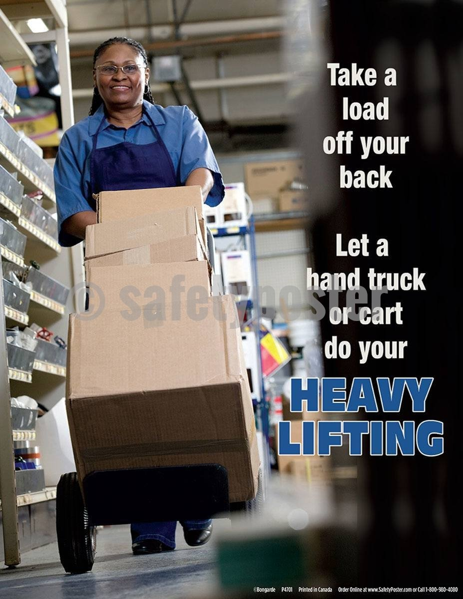 Safety Poster - Take A Load Off Your Back - safetyposter.com