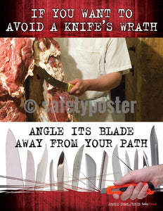 Safety Poster - Avoid A Knife's Wrath - safetyposter.com