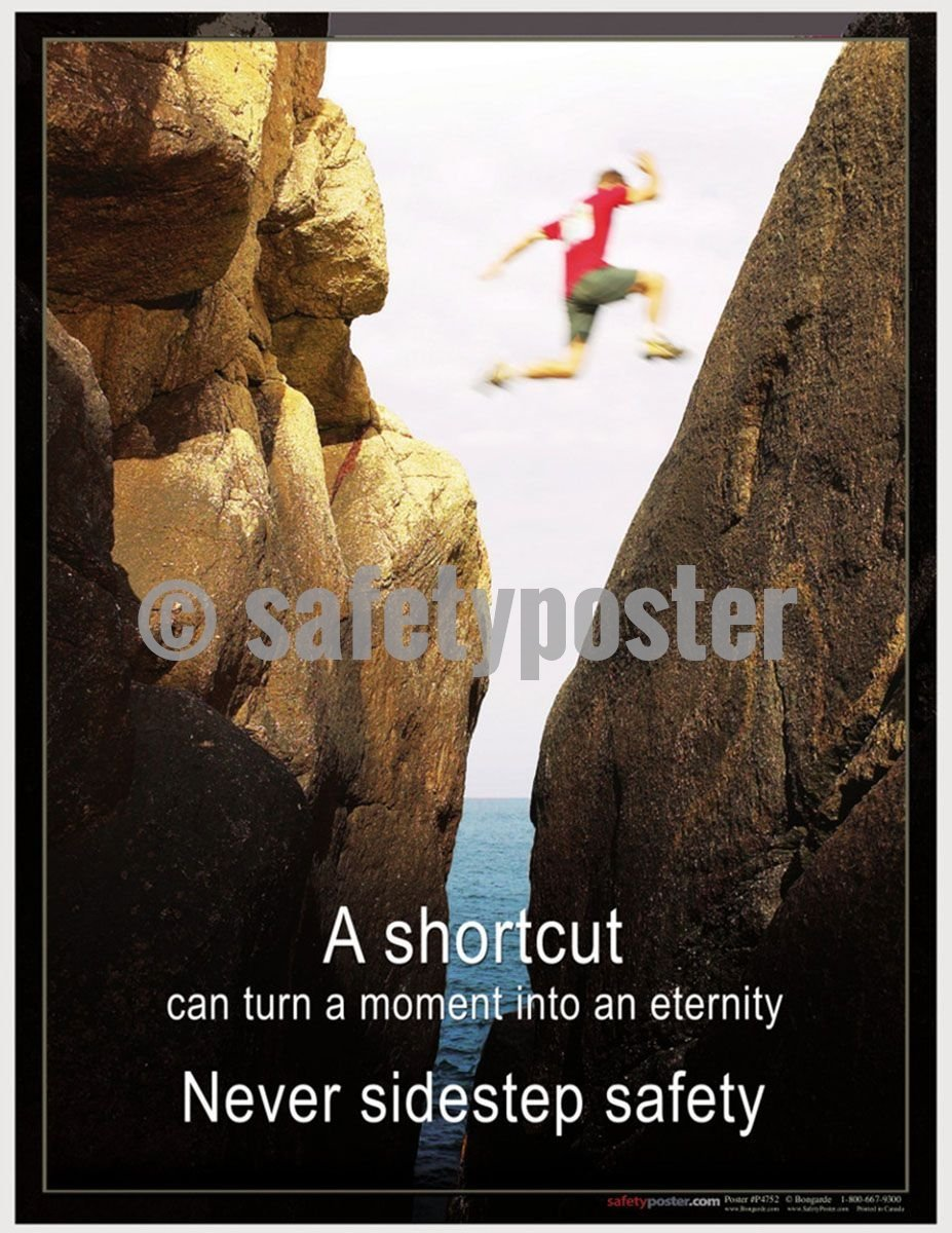 Safety Poster - Never Sidestep Safety - safetyposter.com