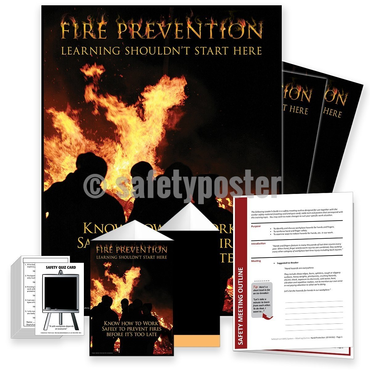 Safety Meeting Kit - Fire Prevention Learning Shouldnt Start Here Kits