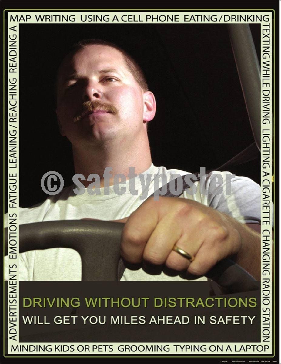 Safety Poster - Driving Without Distractions - safetyposter.com