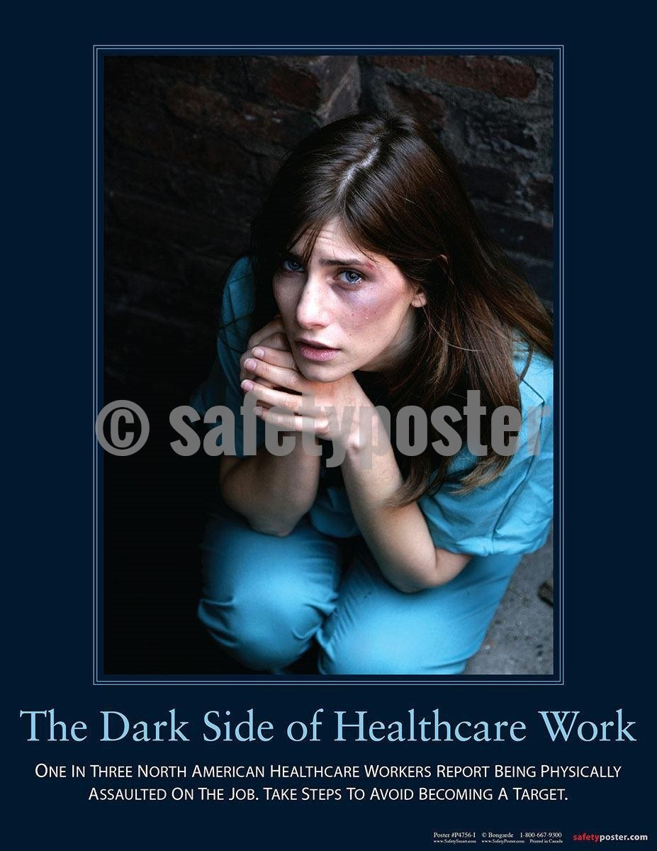 Safety Poster - The Dark Side Of Healthcare Work - safetyposter.com