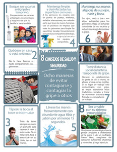 8 Health & Safety Tips - Spanish Safety Poster