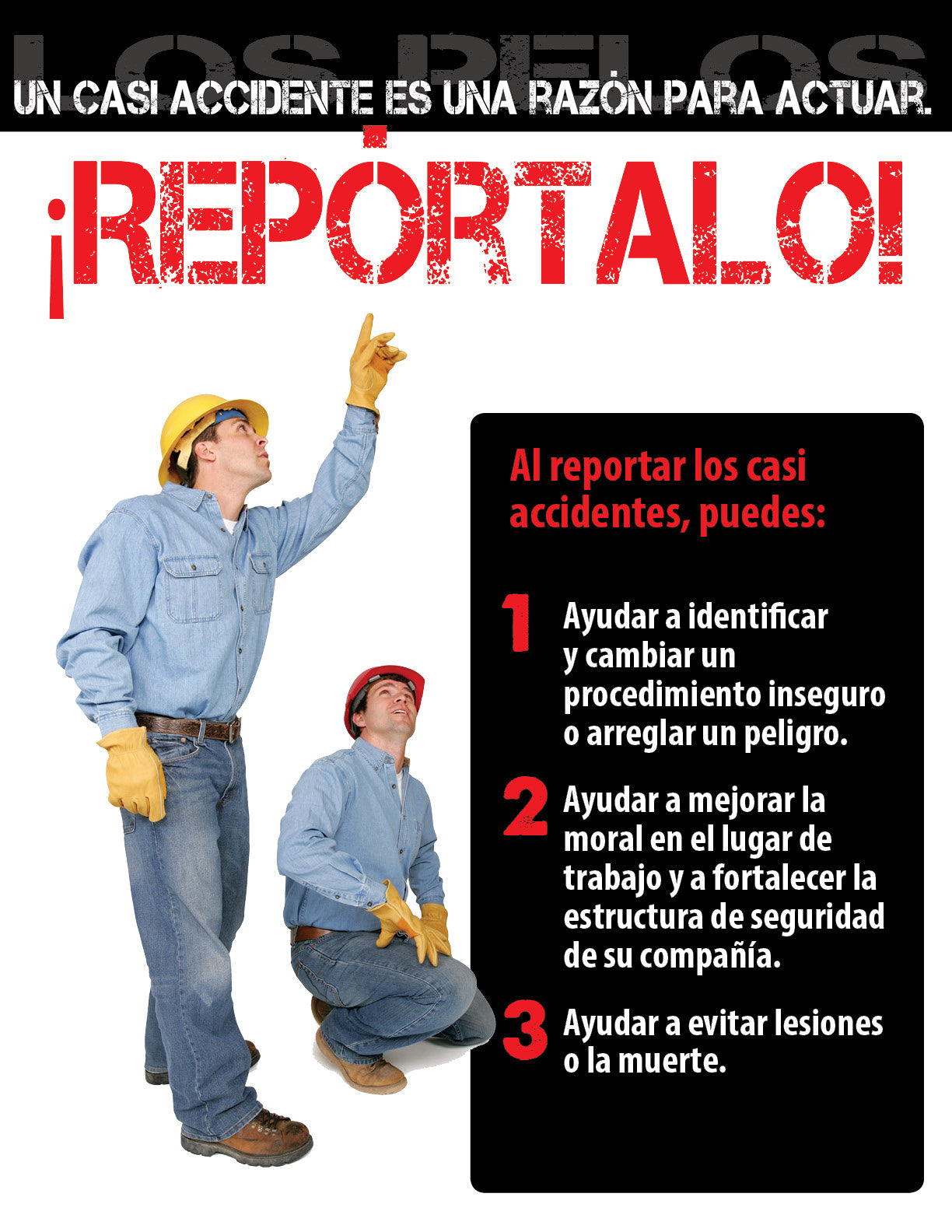 A Close Call Is A Call For Action - Spanish Safety Poster