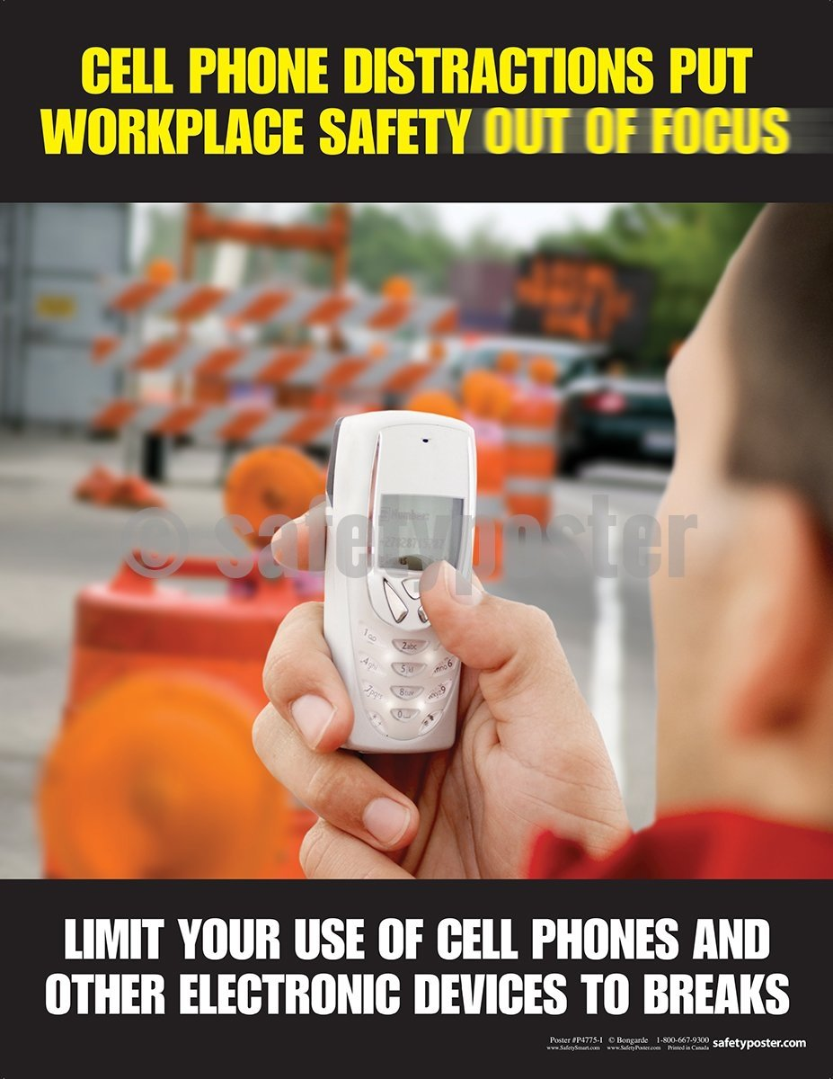Cell Phone Use Safety Poster