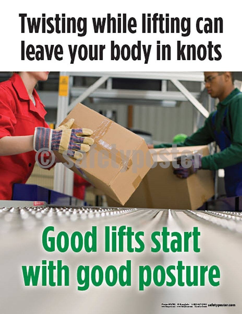Safety Poster - Good Lifts Start With Good Posture - safetyposter.com