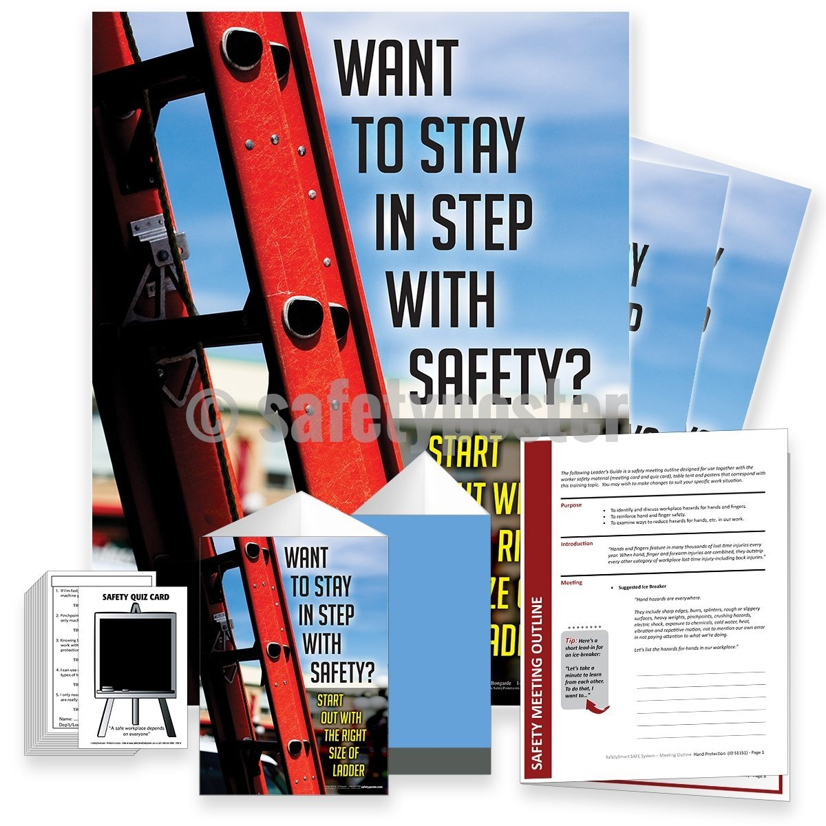 Safety Meeting Kit - Start With The Right Size of Ladder