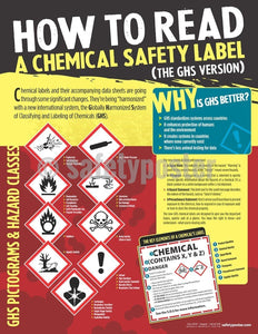 Safety Poster - How To Read A Chemical Safety Label GHS - safetyposter.com