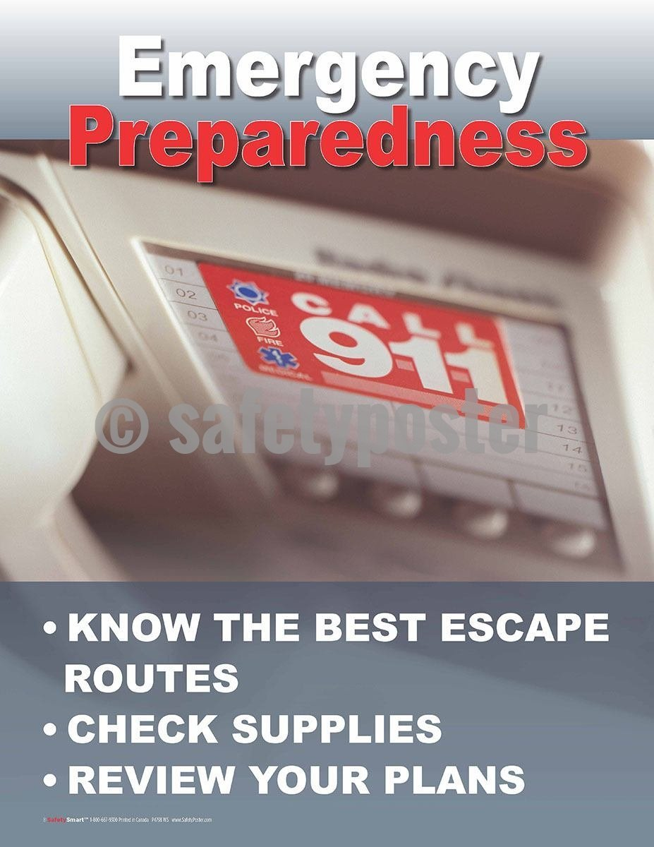 Emergency Preparedness Know The Best Escape Routes - Safety Poster