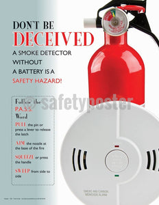 Safety Poster - Don't Be Deceived Smoke Detector - safetyposter.com