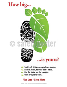 Safety Poster - Footprint How Big Is Yours - safetyposter.com