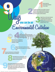 Safety Poster - 9 Ways You Can Be An Environmental Custodian - safetyposter.com