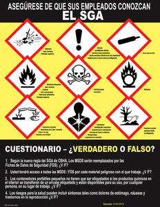 Make Sure Your Employees Know The GHS - Spanish Safety Poster