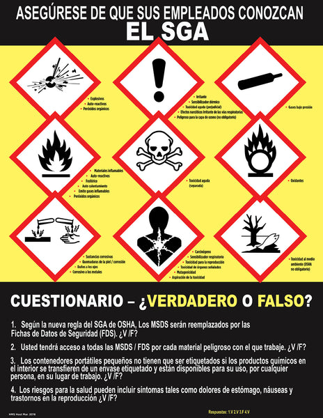 Make Sure Your Employees Know GHS - Safety Poster