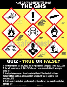 Safety Poster - Make Sure Your Employees Know The GHS - safetyposter.com