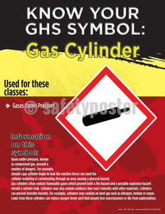 Safety Poster - Know Your GHS Symbol Gas Cylinder - safetyposter.com