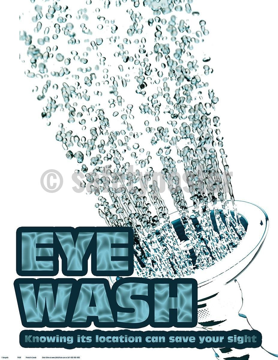 Safety Poster - Eye Wash Know Its Location - safetyposter.com