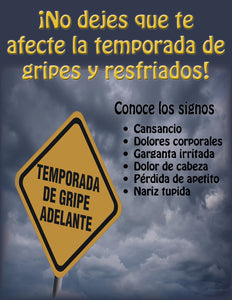 Don't Let Cold and Flu Season Slow You Down - Spanish Safety Poster