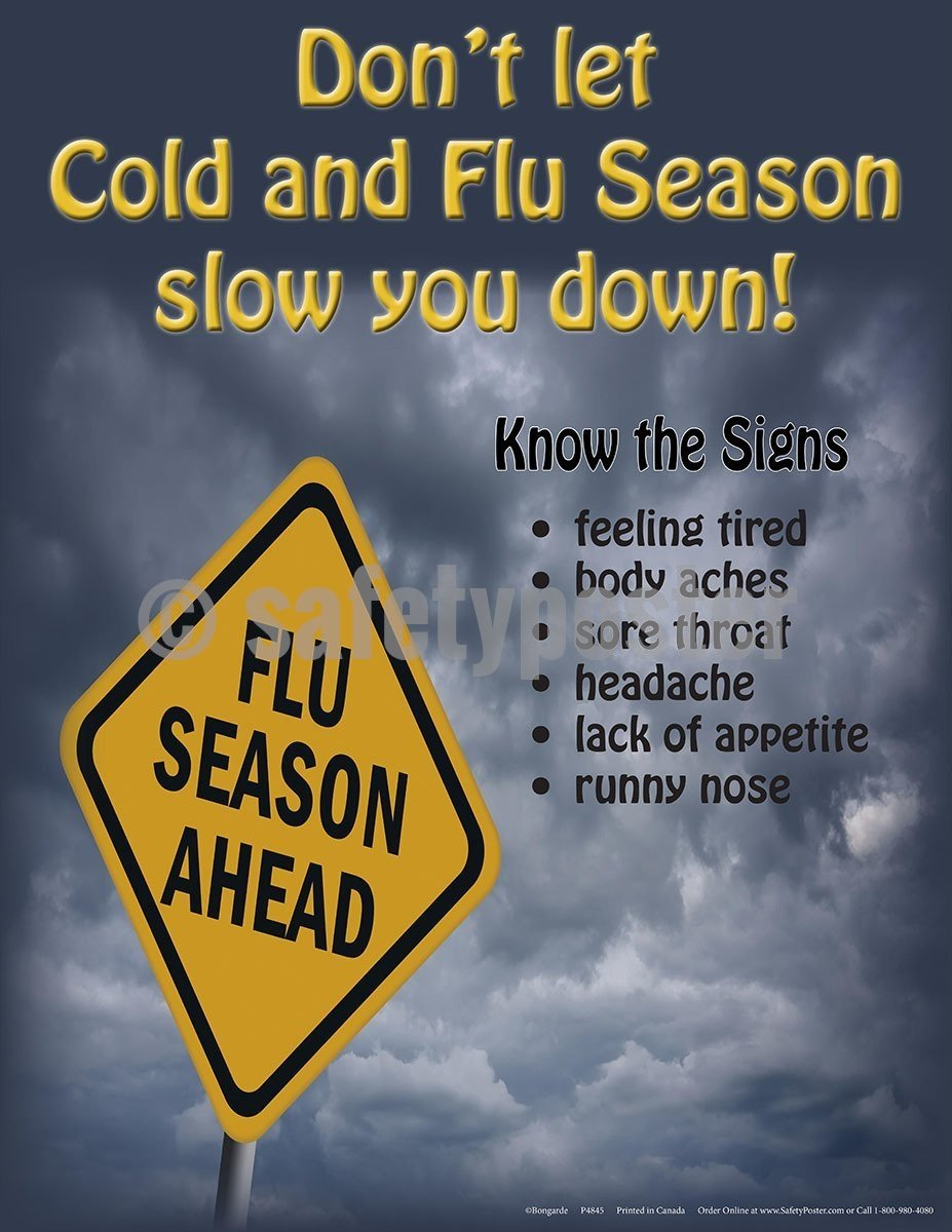 Safety Poster - Don't Let Cold and Flu Season Slow You Down - safetyposter.com
