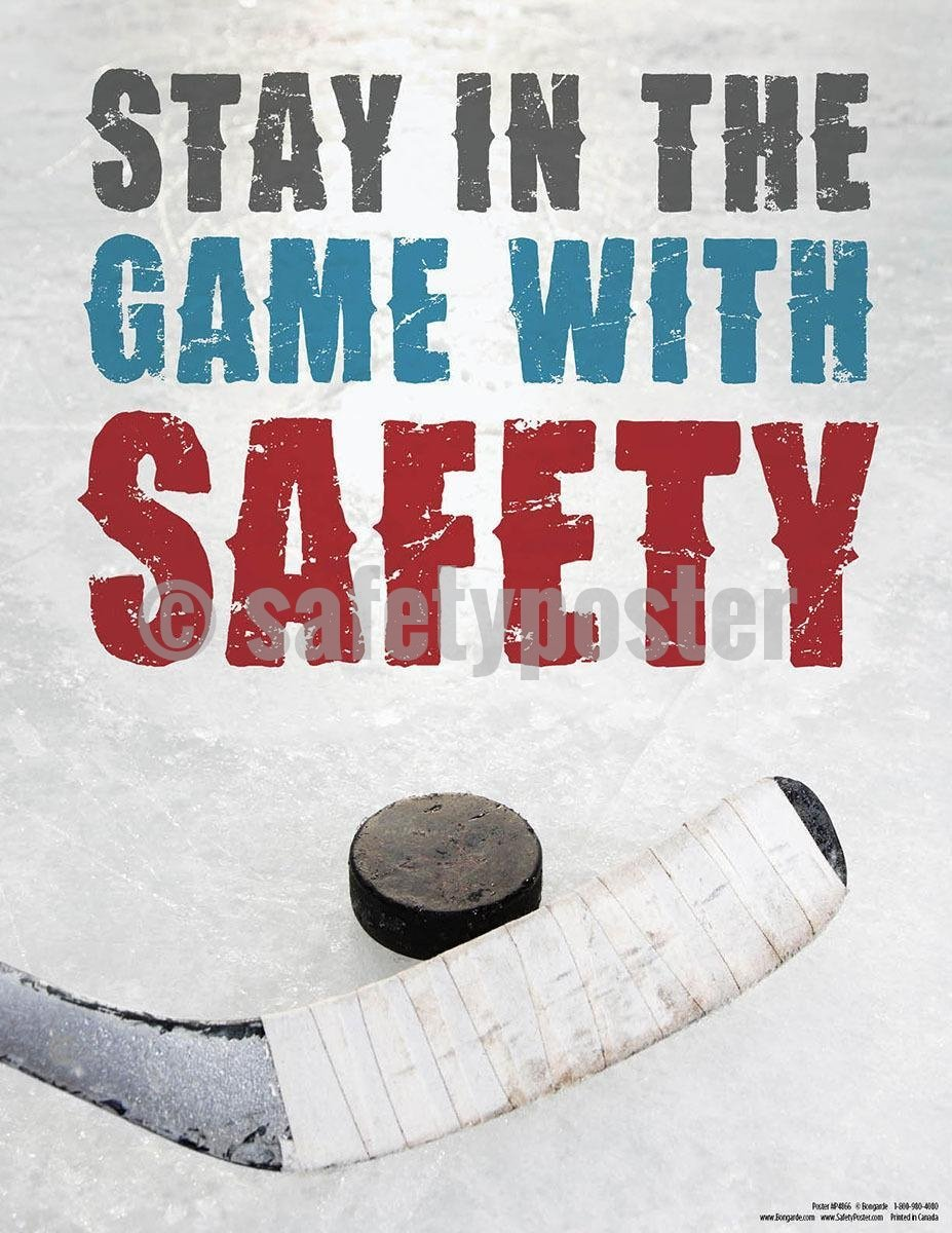 Safety Poster - Stay In The Game With Safety - safetyposter.com