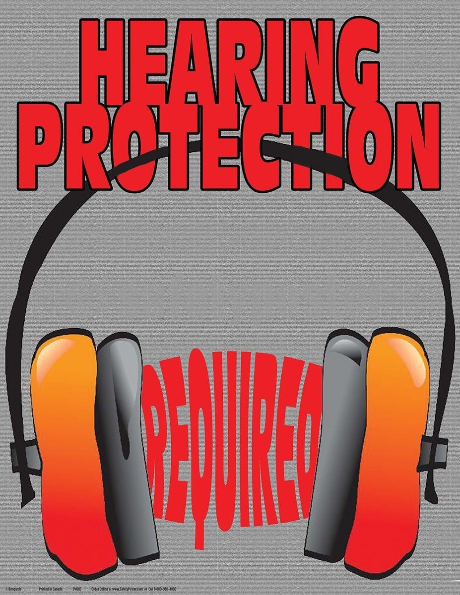 Safety Poster - Hearing Protection Required - safetyposter.com