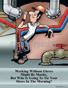 Safety Poster - Working Without Gloves - safetyposter.com