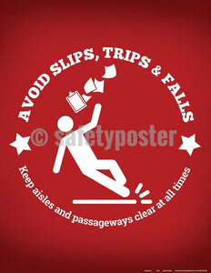 Safety Poster - Avoid Slips Trips And Falls - safetyposter.com