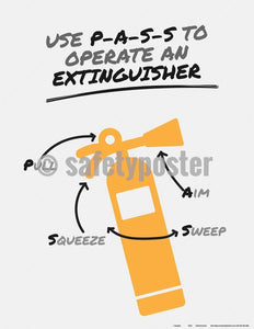Safety Poster - Use PASS To Operate An Extinguisher - safetyposter.com
