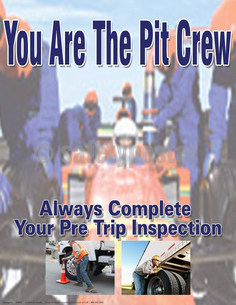 Safety Poster - You Are The Pit Crew - safetyposter.com