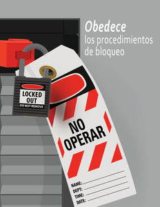 Follow Lockout Procedures - Spanish Safety Poster