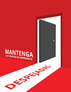 Keep Emergency Exits Clear - Spanish Safety Poster