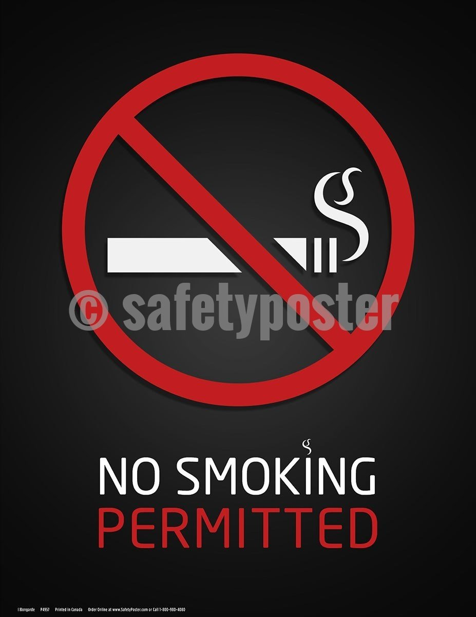 Safety Poster - No Smoking Permitted - safetyposter.com