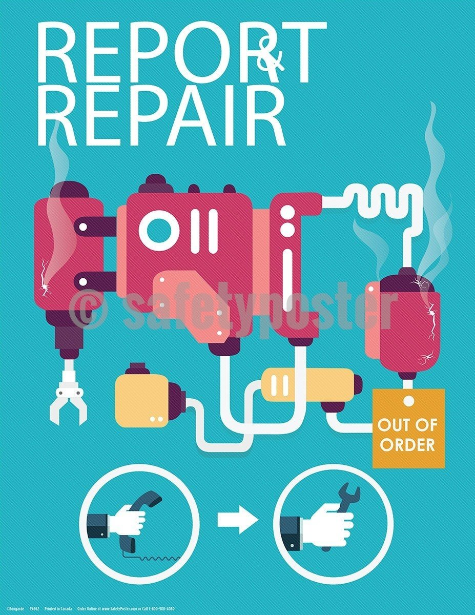 Safety Poster - Report And Repair - safetyposter.com