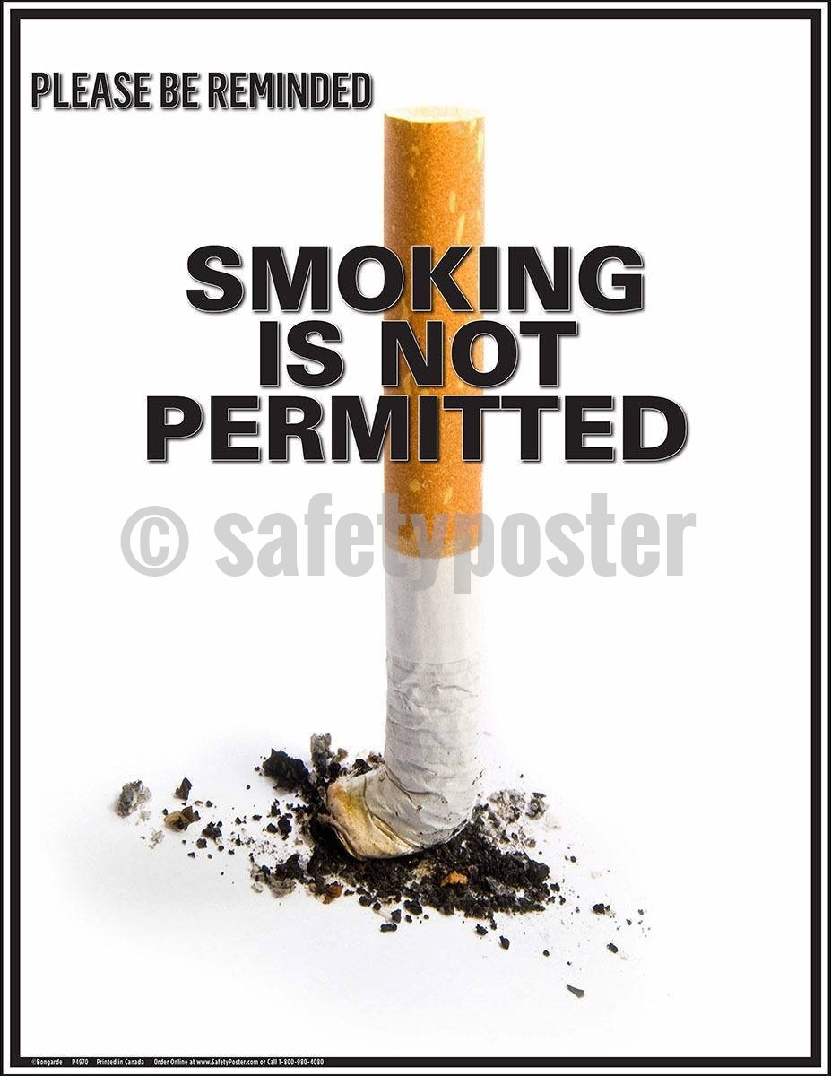 Safety Poster - Please Be Reminded Smoking Is Not Permitted - safetyposter.com