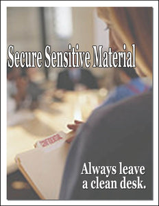 Secure Sensitive Material - Safety Poster Office