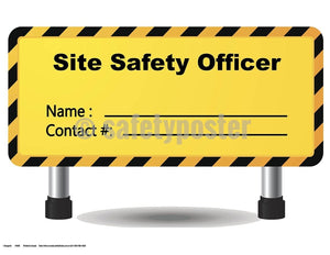 Safety Poster - Site Safety Officer Contact Information - safetyposter.com