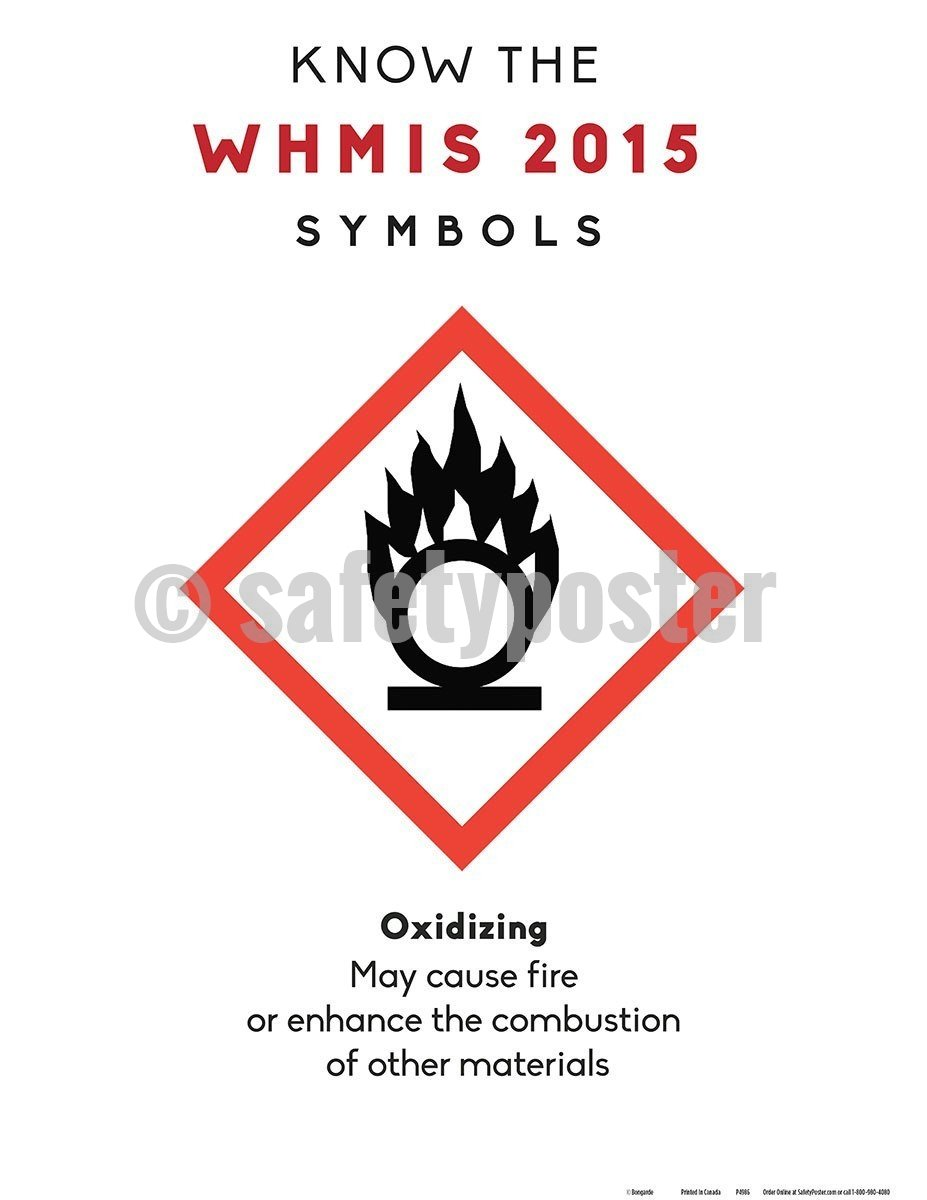 Safety Poster - WHMIS 2015 Oxidizing Symbol - safetyposter.com