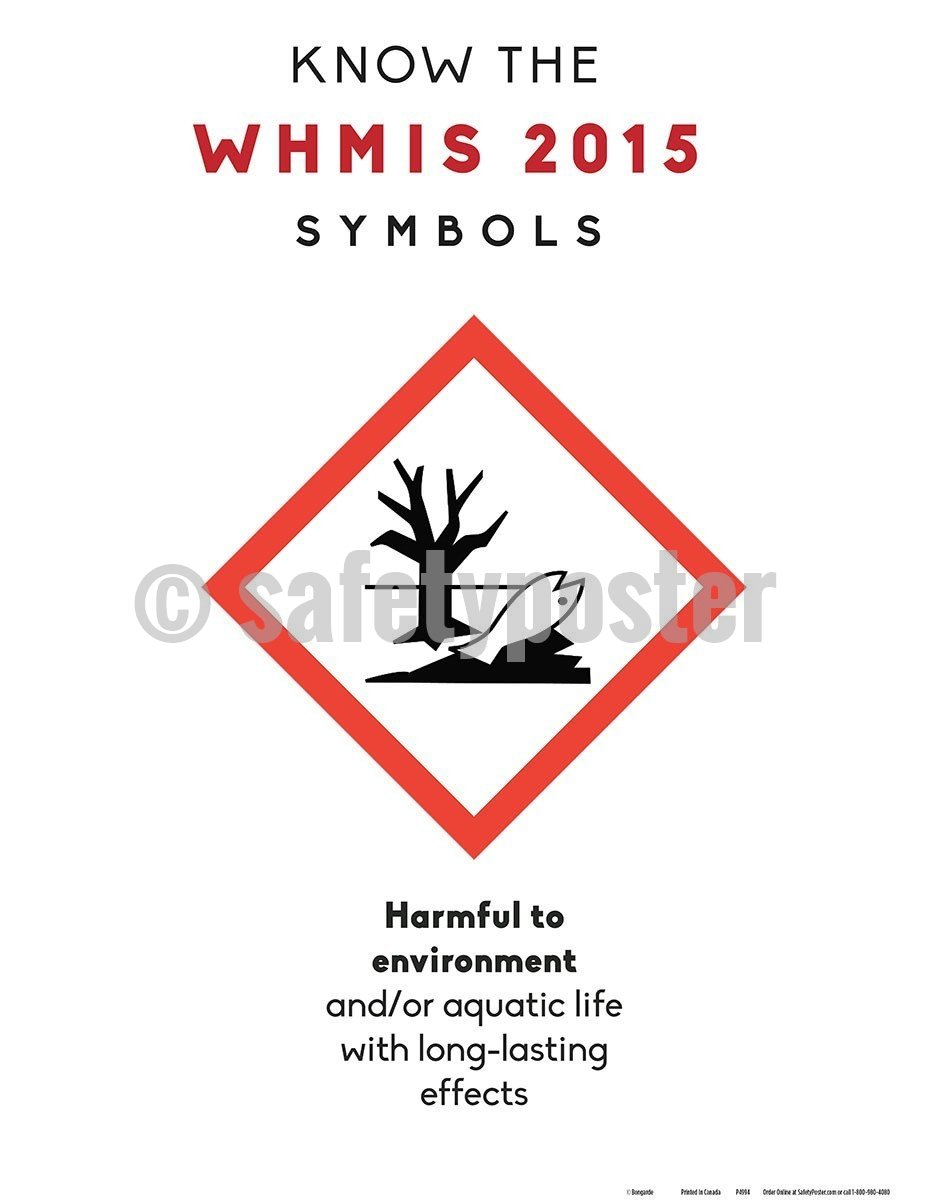 Safety Poster - WHMIS 2015 Harmful To Environment Symbol - safetyposter.com