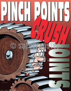 Safety Poster - Pinch Points Crush Joints - safetyposter.com