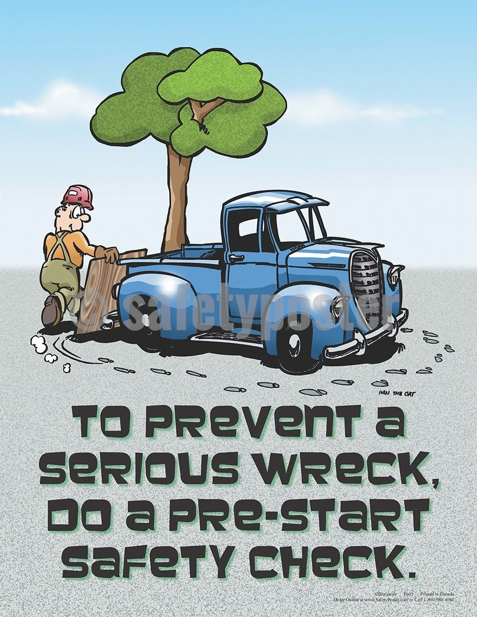 Safety Poster - Pre-Start Safety Check - safetyposter.com