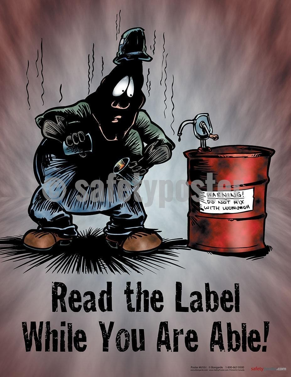 Safety Poster - Read The Label While You Are Able! - safetyposter.com