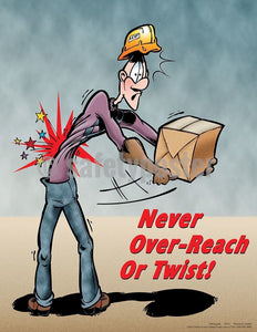 Safety Poster - Never Over-Reach Or Twist! - safetyposter.com