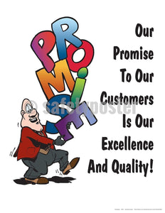Safety Poster - Promise Excellence And Quality - safetyposter.com