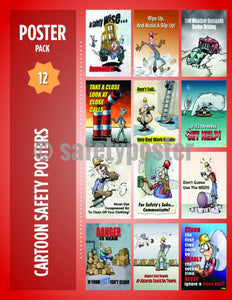 Safety Posters Pack - Cartoon Safety - safetyposter.com