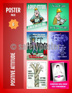 Safety Posters Pack - Positive Attitude - safetyposter.com