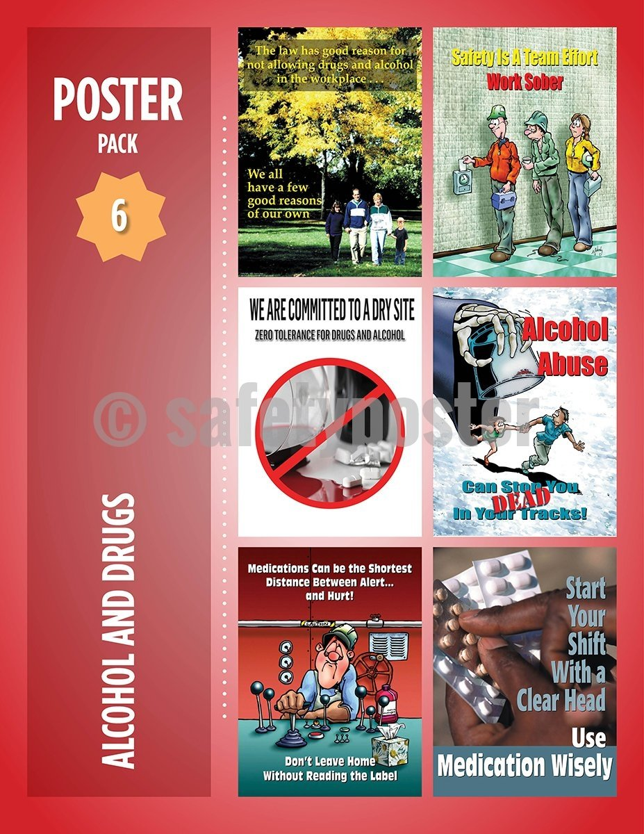 Safety Posters Pack - Alcohol And Drugs Abuse #2 Poster Packs