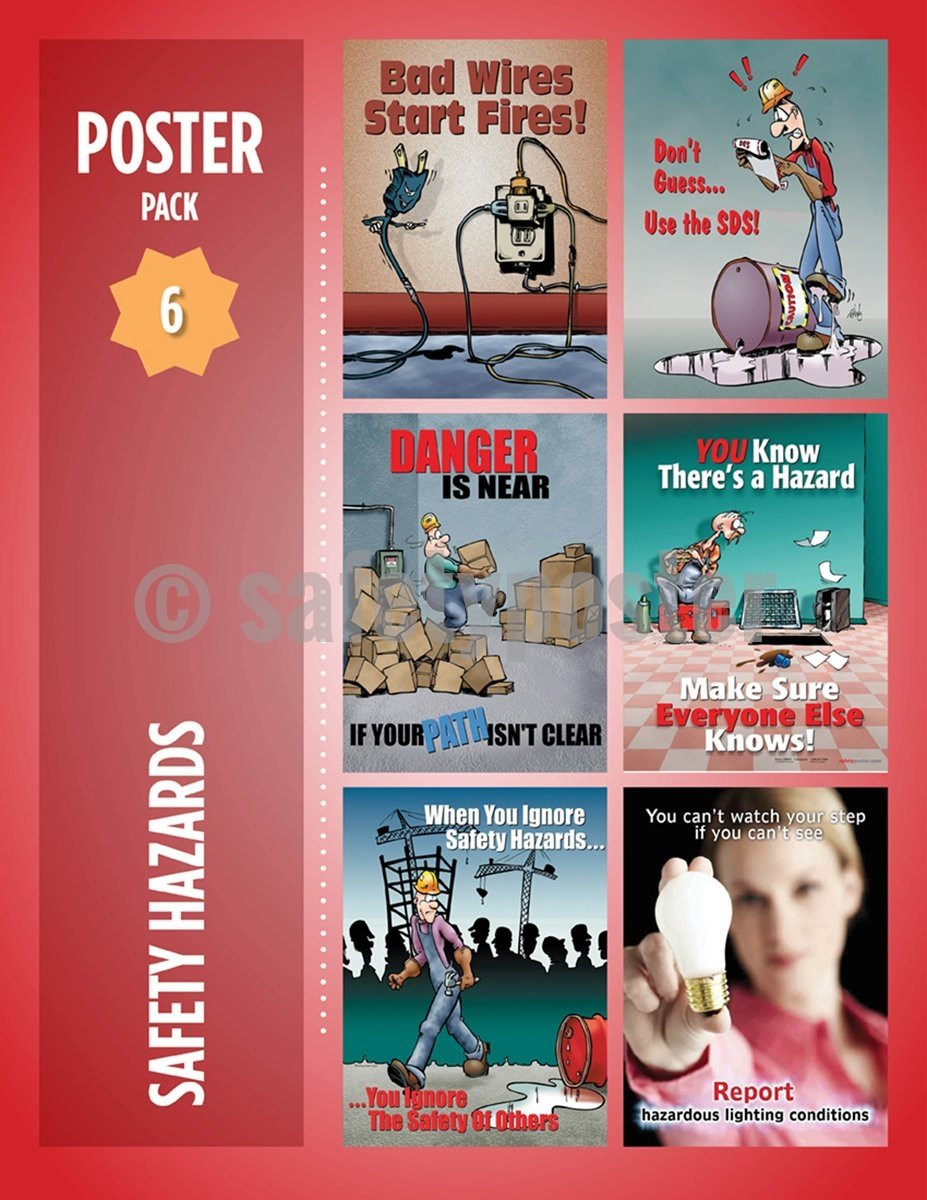 Safety Posters Pack - Hazards Poster Packs