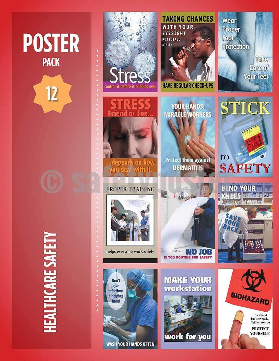 Safety Posters Pack - Healthcare Poster Packs