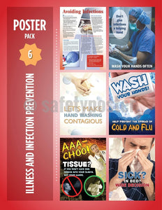 Safety Posters Pack - Illness And Infection Prevention Poster Packs